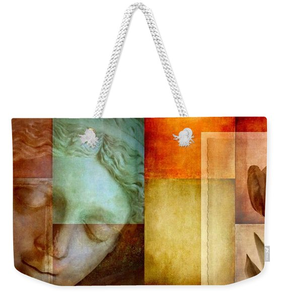 Weekender Tote Bag featuring the digital art If Only Words Could Say by Patricia Strand