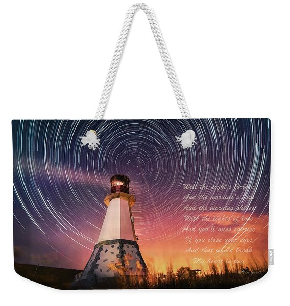 If You Close Your Eyes Weekender Tote Bag