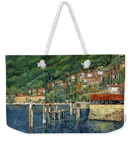 il porto di Bellano Weekender Tote Bag