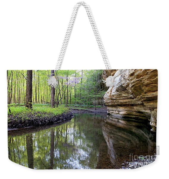 Illinois Canyon In Spring Starved Rock State Park Weekender Tote Bag