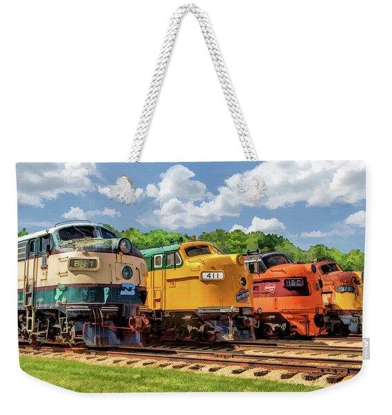 Illinois Railway Museum Diesel Locomotives Weekender Tote Bag
