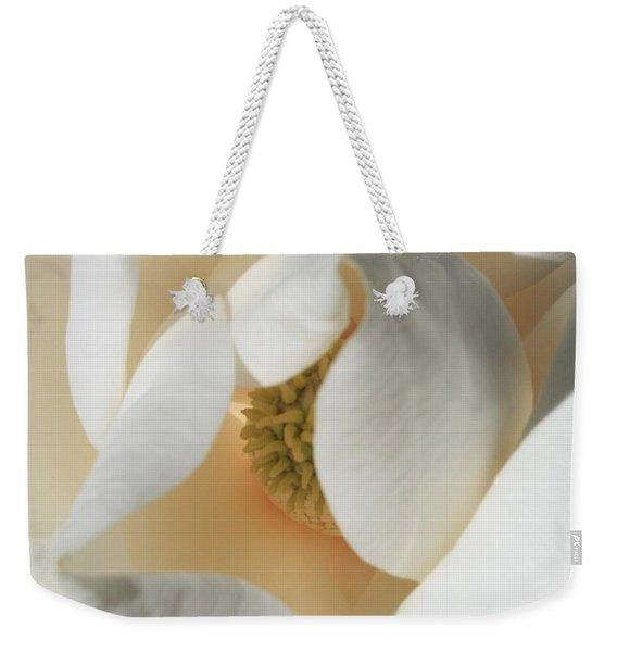 Illuminated Magnolia Macro Weekender Tote Bag