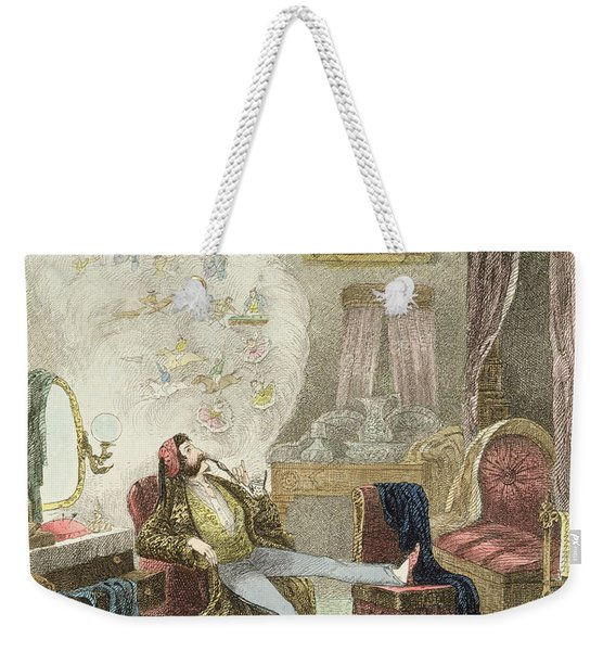 Illustration From Visitation Of A London Exquisite To His Maiden Aunts In The Country Weekender Tote Bag
