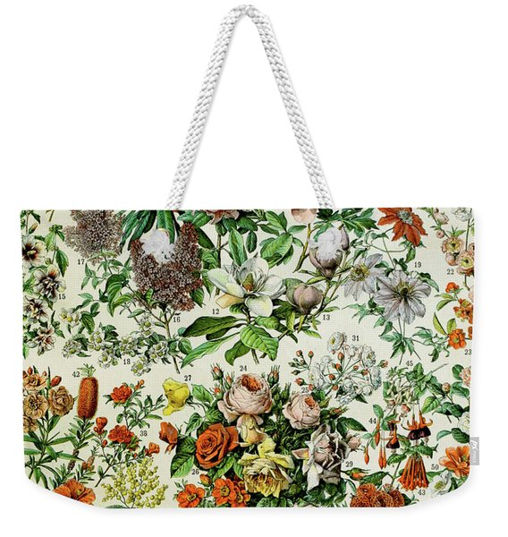 Illustration Of Flowering Plants Weekender Tote Bag