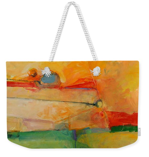 Weekender Tote Bag featuring the painting I'm In Corn  by Cliff Spohn