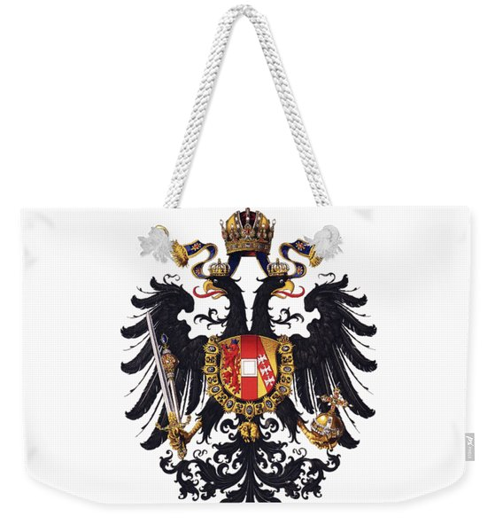 Imperial Coat Of Arms Of The Empire Of Austria-hungary 1815 Transparent Weekender Tote Bag