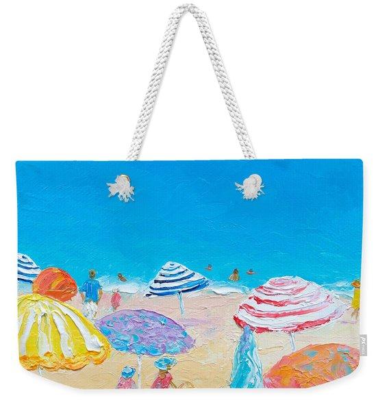Impressionist Beach Painting Weekender Tote Bag