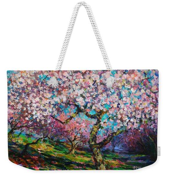 Impressionistic Spring Blossoms Trees Landscape Painting Svetlana Novikova Weekender Tote Bag