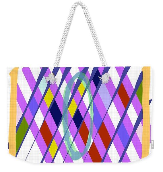 Improvised Geometry #1 Weekender Tote Bag