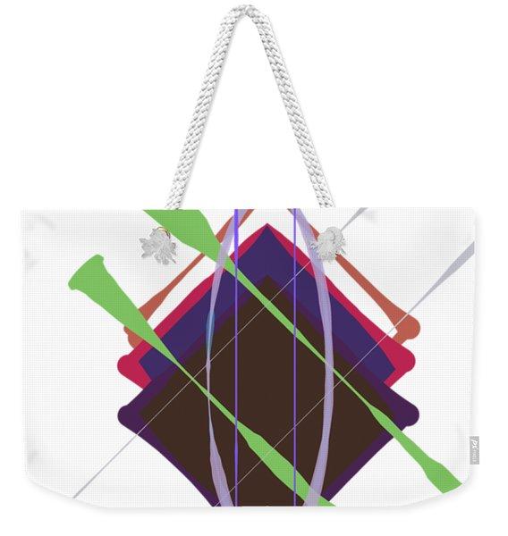 Improvised Geometry #3 Weekender Tote Bag