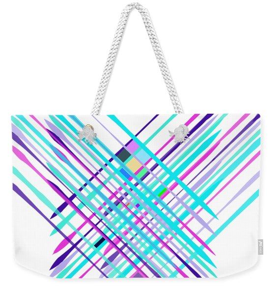 Improvised Geometry #2 Weekender Tote Bag