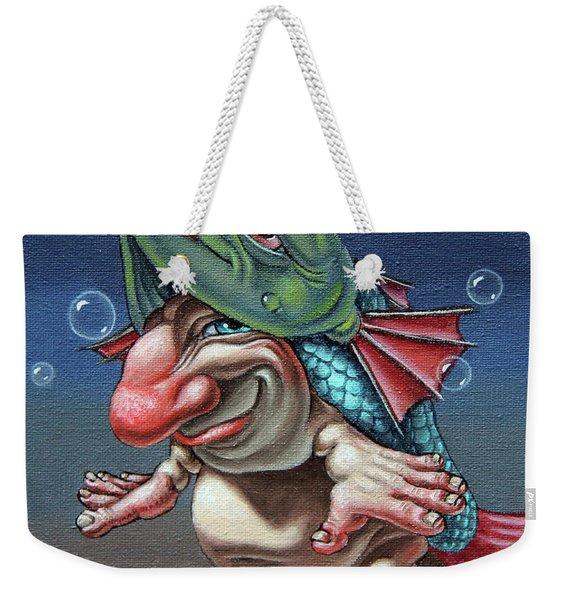 In A Fish Suit. Weekender Tote Bag