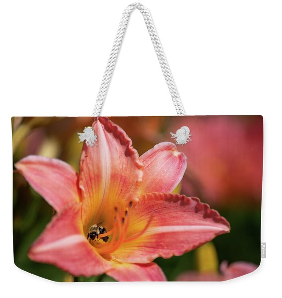 Weekender Tote Bag featuring the photograph In A Lily 1 by Brian Hale