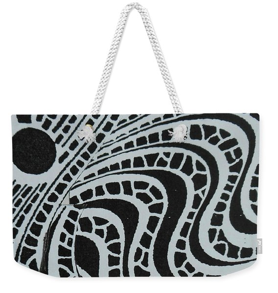 In Black And White Weekender Tote Bag