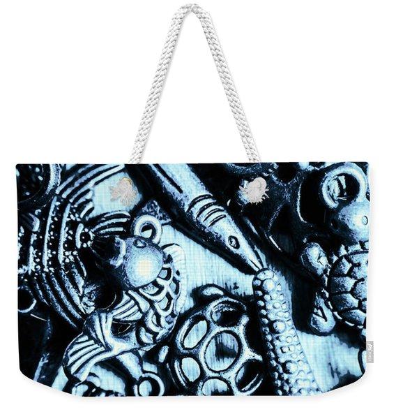 In Blue Nautilus  Weekender Tote Bag