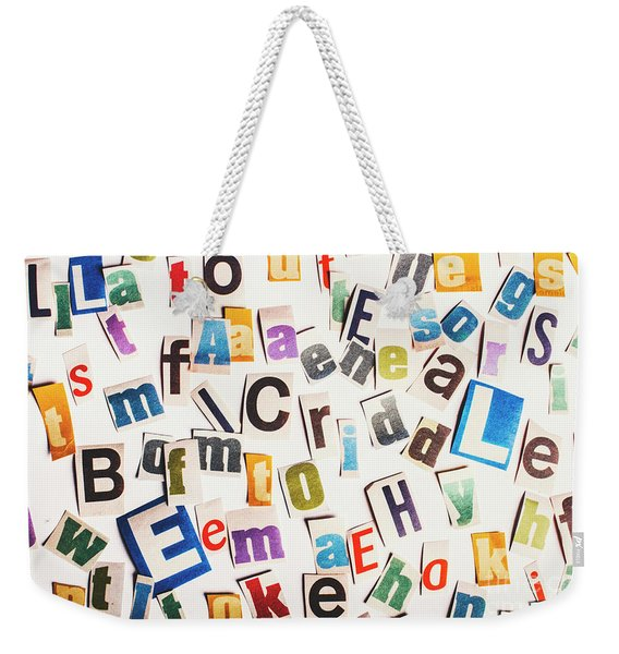 In Clues Of A Riddle Weekender Tote Bag