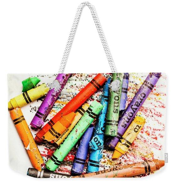 In Colours Of Broken Crayons Weekender Tote Bag