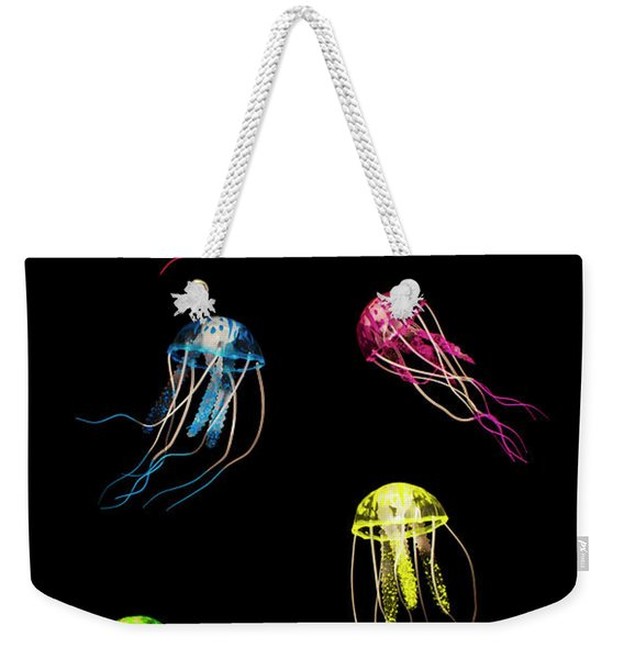 In Colours Of Swirling Jellyfishes  Weekender Tote Bag
