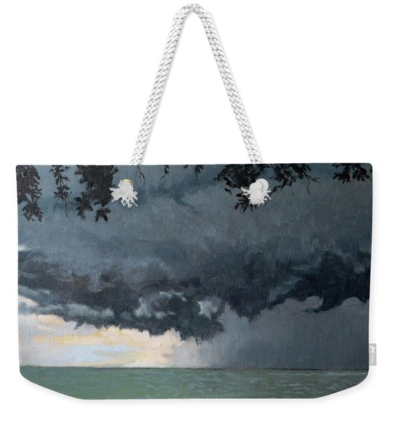 In Coming Storm-epping Forest On The Lake Weekender Tote Bag