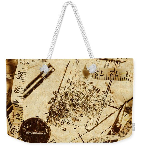 In Fashion Of Vintage Sewing Weekender Tote Bag