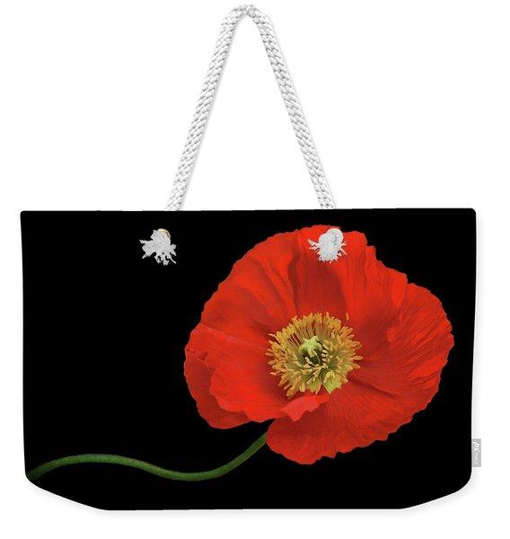 In Flanders Field - Red Poppy Weekender Tote Bag