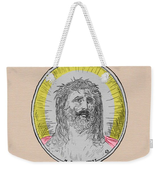 In Him We Trust Colorized Weekender Tote Bag