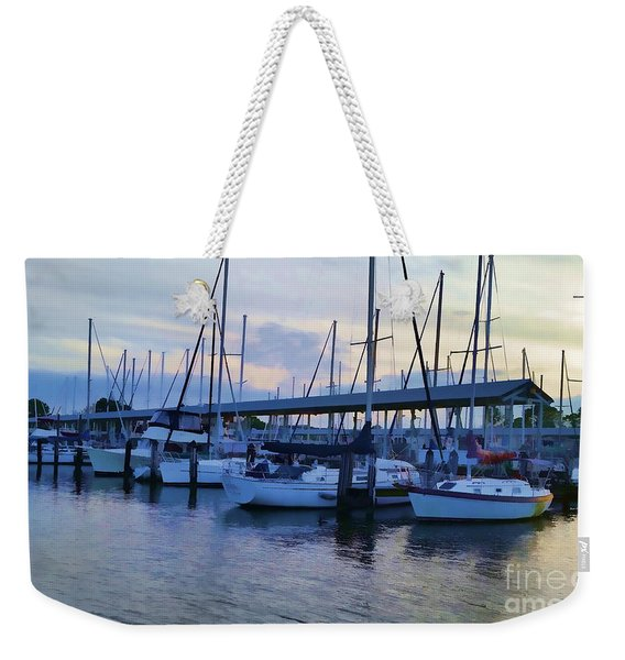 In My Dreams Sailboats Weekender Tote Bag