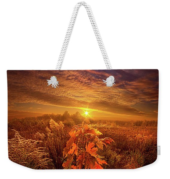 In Perfect Solitude There Is Grace Weekender Tote Bag