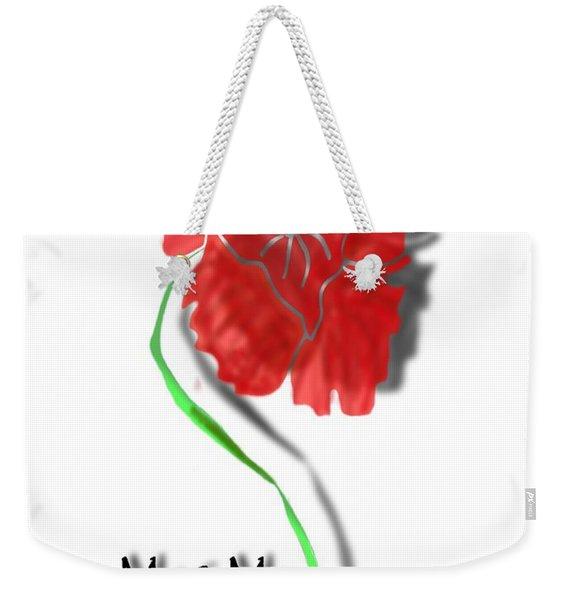 In Remembrance Poppy Weekender Tote Bag