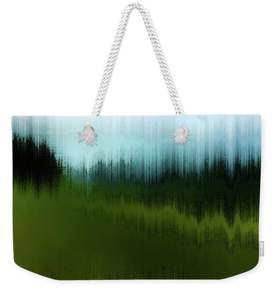 Weekender Tote Bag featuring the digital art In The Black Forest by Gina Harrison