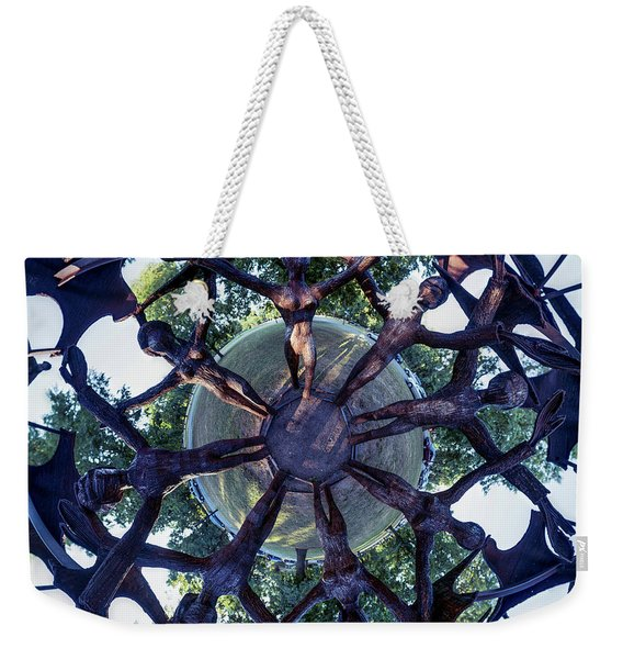 In The Center Of Seven Under Birds #1 - Tiny Planet Weekender Tote Bag