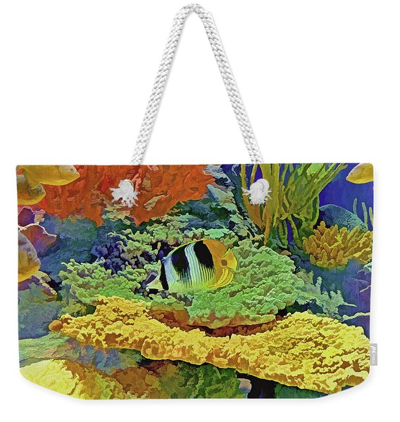In The Coral Garden 10 Weekender Tote Bag