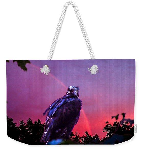 In The Eye Of A Hawk Weekender Tote Bag