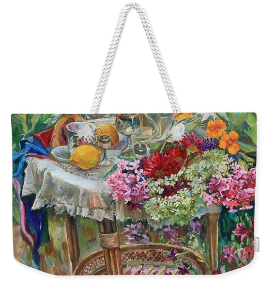 In The Garden Weekender Tote Bag