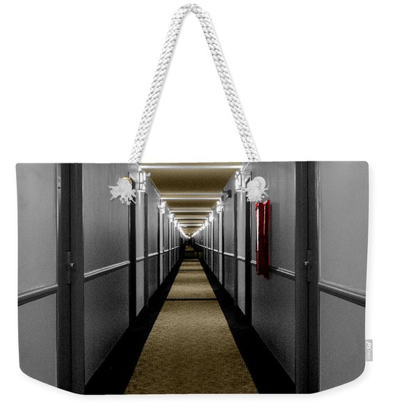 In The Long Hall Weekender Tote Bag
