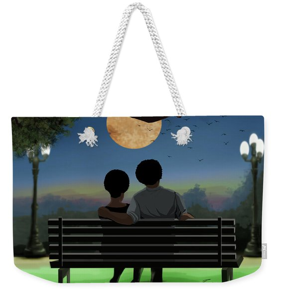 In The Park After Dark Weekender Tote Bag