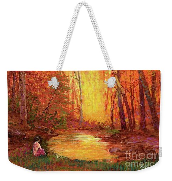 In The Presence Of Light Meditation Weekender Tote Bag
