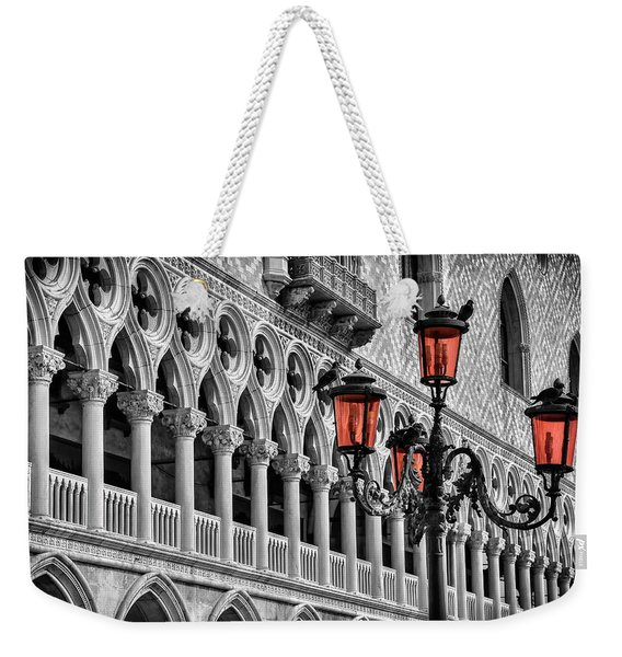 In The Shadow Of The Doges Palace Venice Weekender Tote Bag