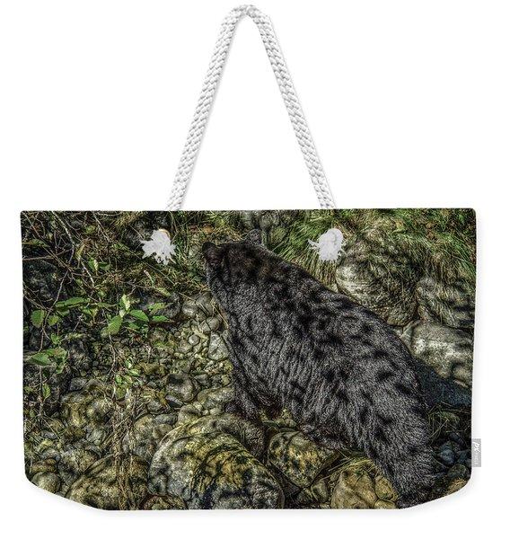 In The Shadows Black Bear Weekender Tote Bag