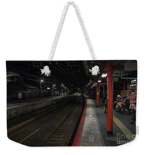 Inari Station, Kyoto Japan Weekender Tote Bag