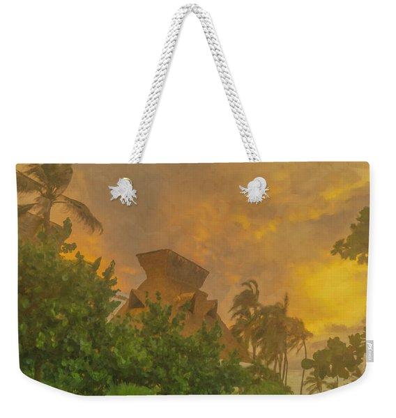 Incoming Storm On Playa Diamante Acapulco Weekender Tote Bag