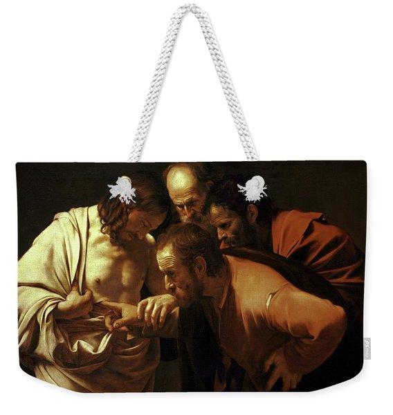 Incredulity Of Saint Thomas Weekender Tote Bag