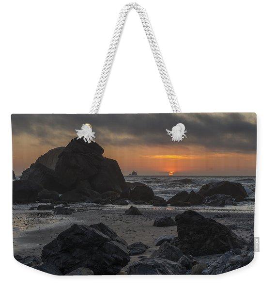 Indian Beach Sunset Weekender Tote Bag