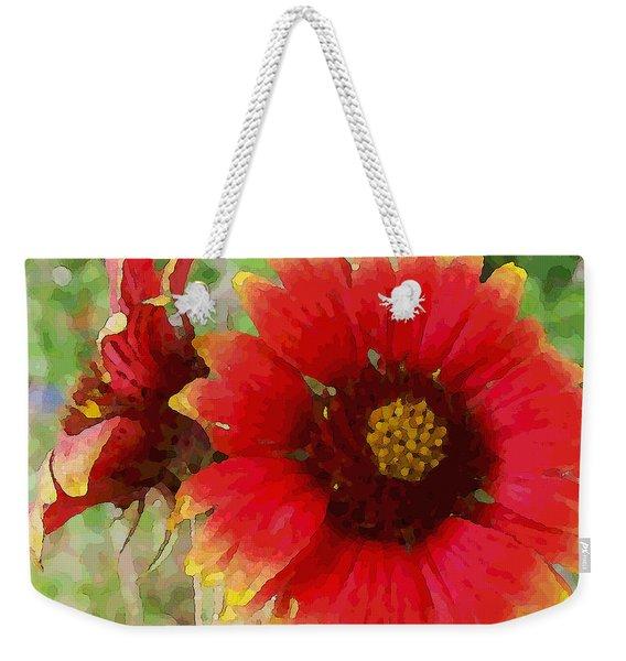 Indian Blanket Flowers Weekender Tote Bag