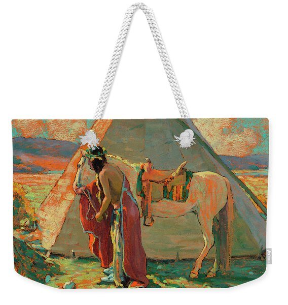 Indian Camp Weekender Tote Bag