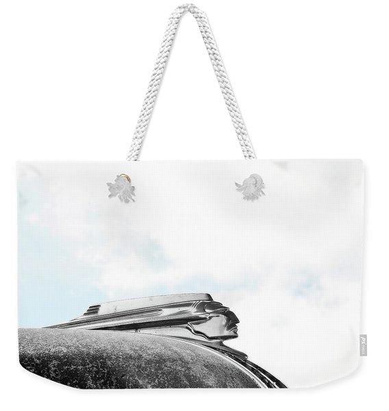 Indian Chief Hood Ornament Weekender Tote Bag