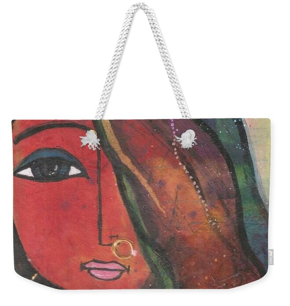 Indian Girl With Nose Ring Weekender Tote Bag