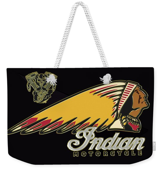 Indian Motorcycle Logo Series 2 Weekender Tote Bag