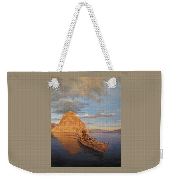 Indian On Lake Pyramid Weekender Tote Bag