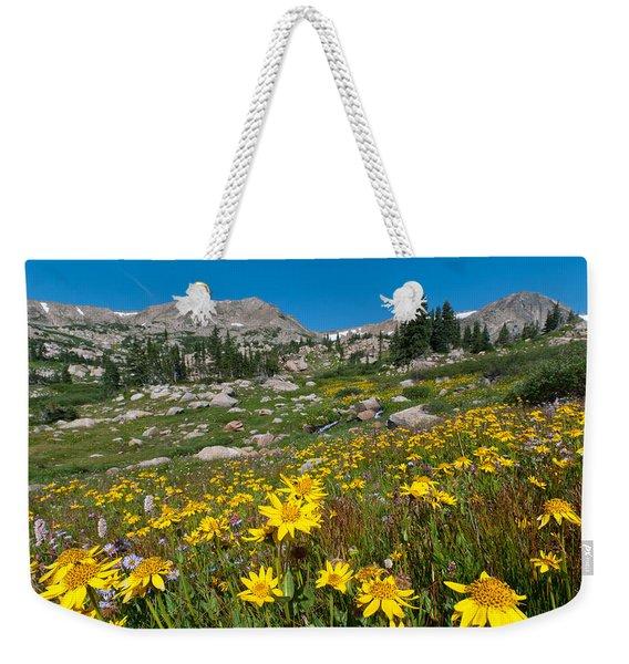 Indian Peaks Summer Wildflowers Weekender Tote Bag
